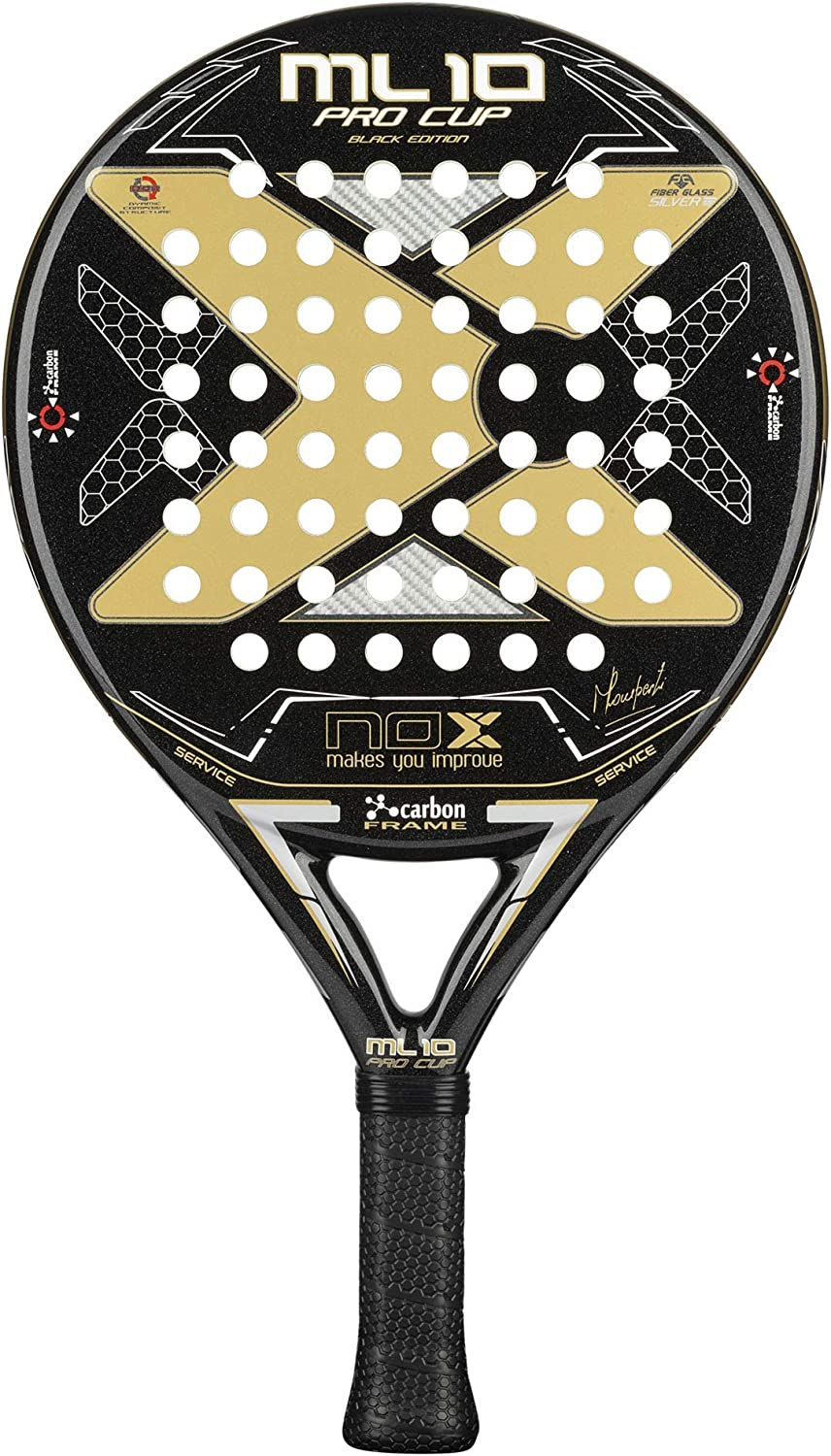 NOX Pala de pádel ML10 Pro Cup Black Edition: Amazon.es: Deportes ...