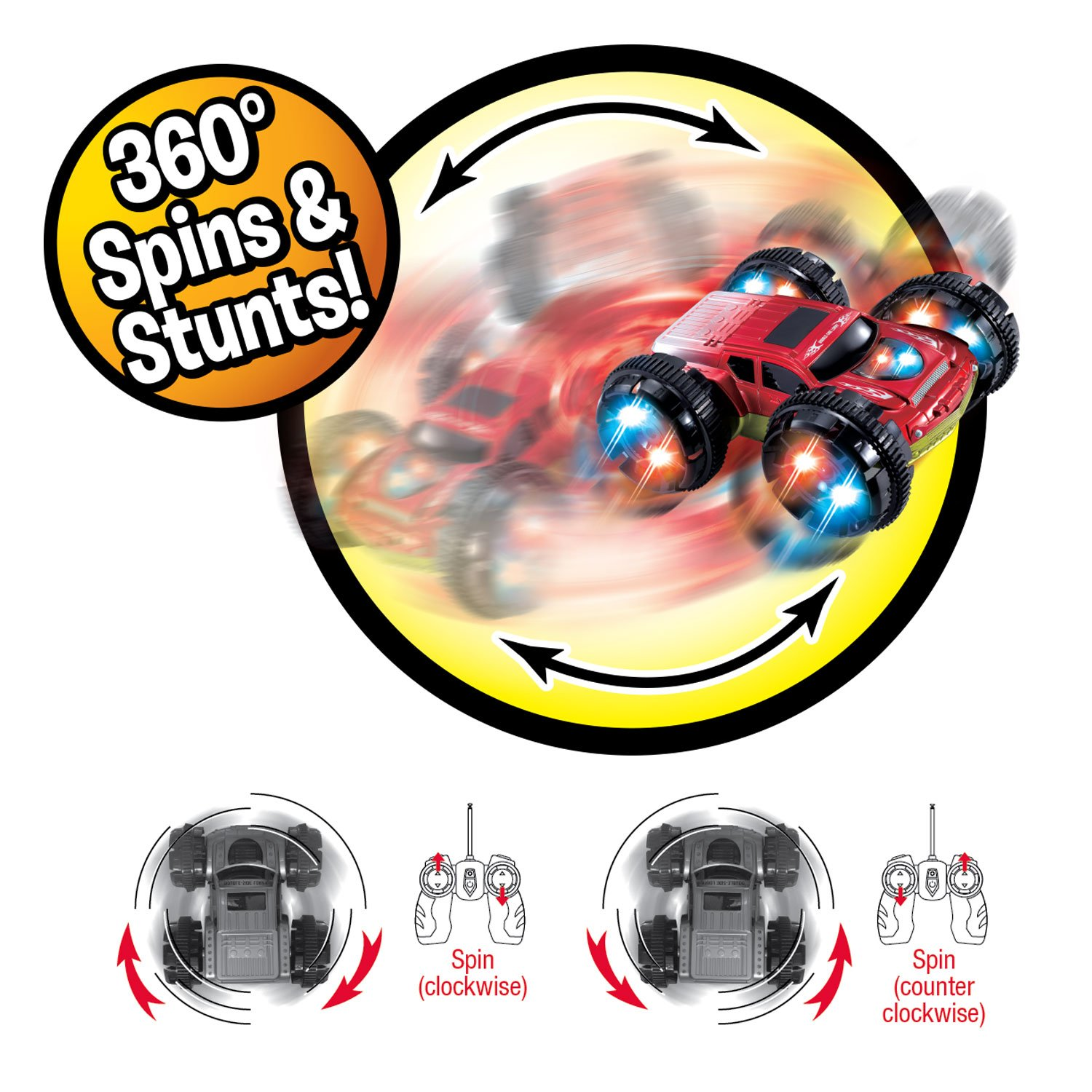 Amazon Com Double Sided Remote Control Car Power Stunt Extreme