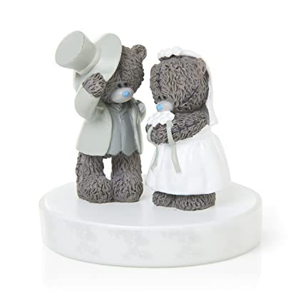 Me To You G01Q6193 Tatty Teddy - Figura decorativa para tarta de bodas, diseño de