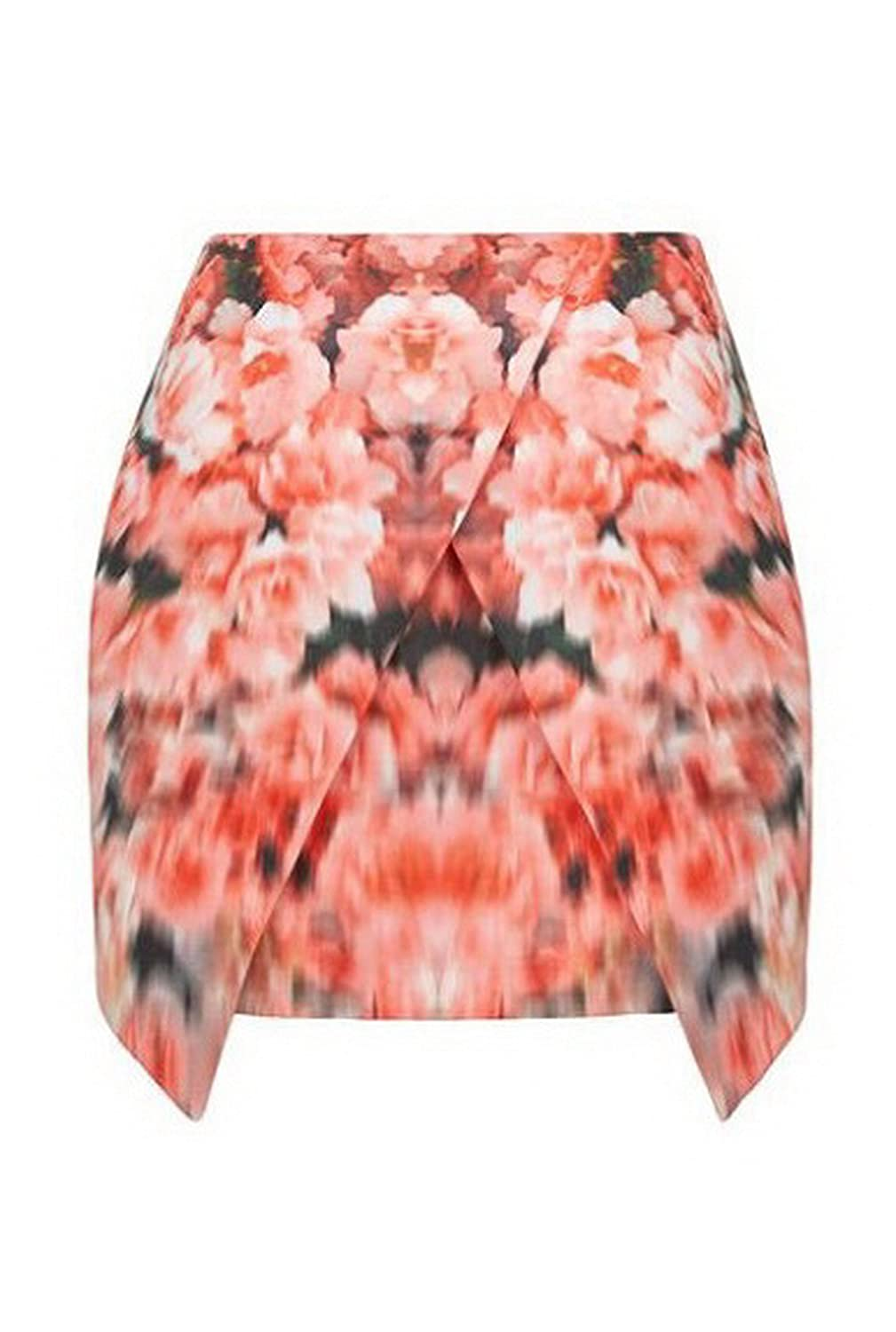 FINDERS KEEPERS Womens Basic Instinct Floral Skirt Sz S Multi Color 210465AJ