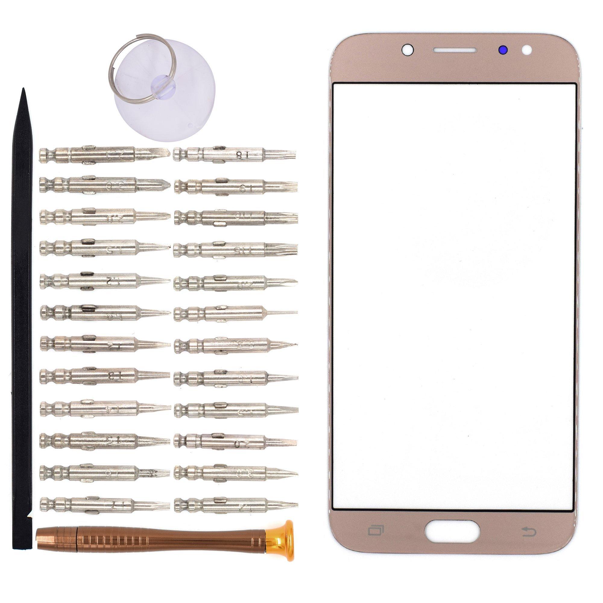 Vidrio Frente Para Samsung Galaxy J7 Pro 2017 Oro Goodyitou