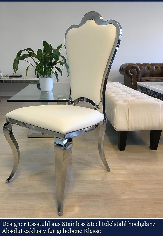 Bezaubernd Esstischstuhl Weiß Foto Von Rubin Barock Kunstleder Esszimmerstuhl Essstuhl Esszimmer Stuhl