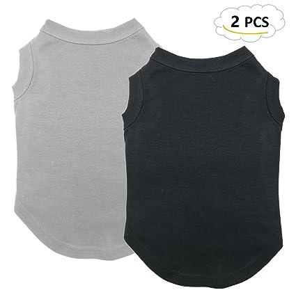 965b71af908 Chol&Vivi Black Dog T-Shirts Clothes, 2pcs Dog Shirts Apparel Fit Fot Small  Extra Small Medium Large Extra Large Dog Cat, Cotton Shirts Soft and ...