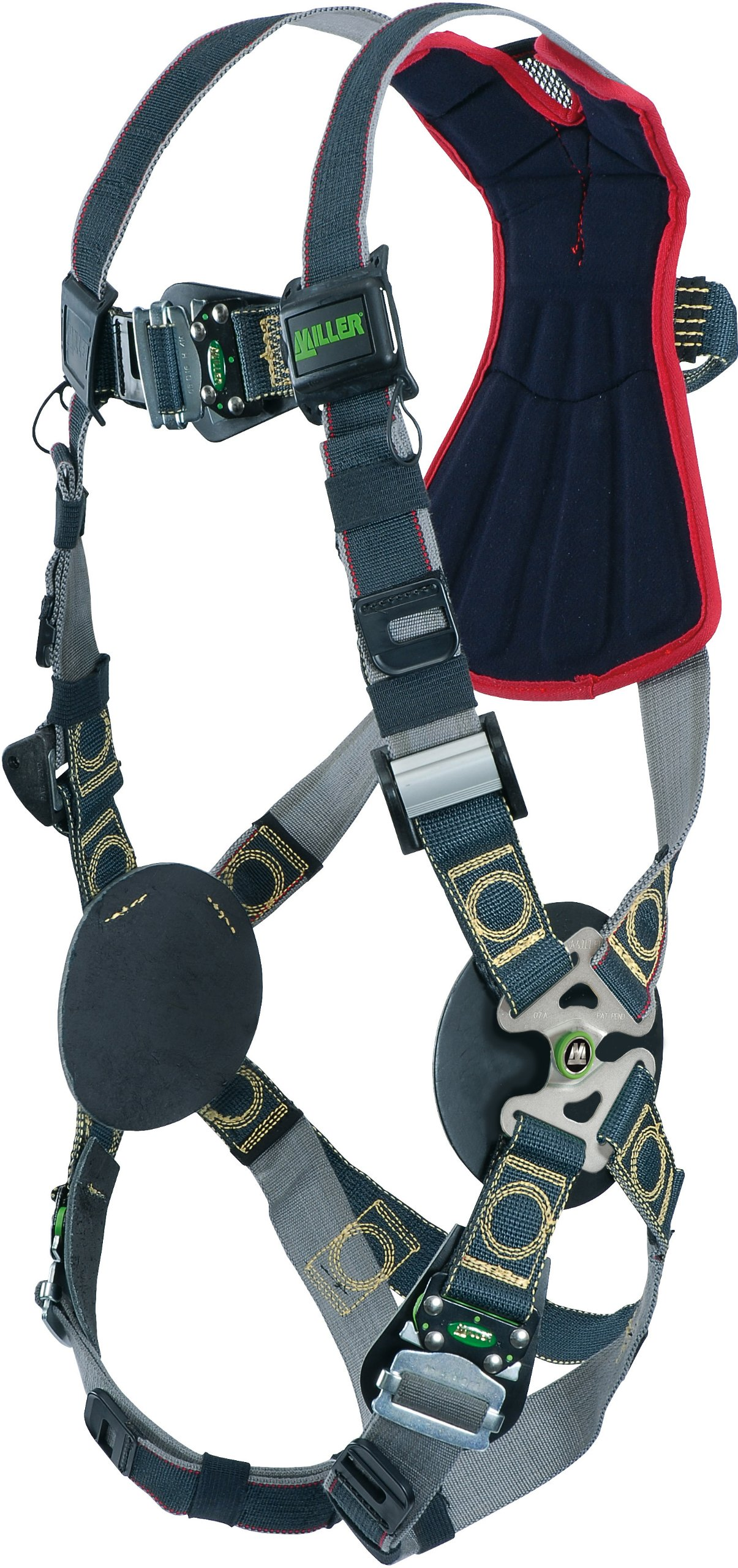 Miller RKNAR-QC-B/UBK Revolution Arc Rated Harness with Kevlar-Nomex Webbing, Removable Belt and Quick-Connect Leg Buckles, Black, Universal Size (Large/XL)