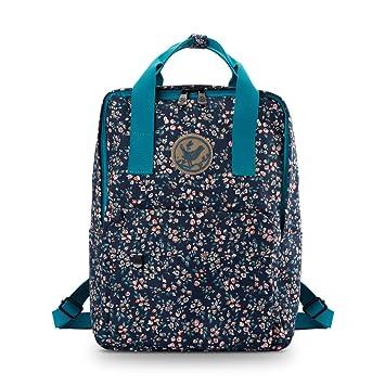 7adba93c94 Micoop Waterproof Floral Backpack Handbag Travel School Bag for Girls and  Women  (Black Blue L )