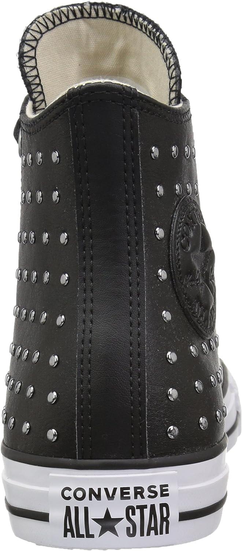 Converse CTAS Hi, Chaussures de Fitness Femme Multicolore Black Black Silver 001