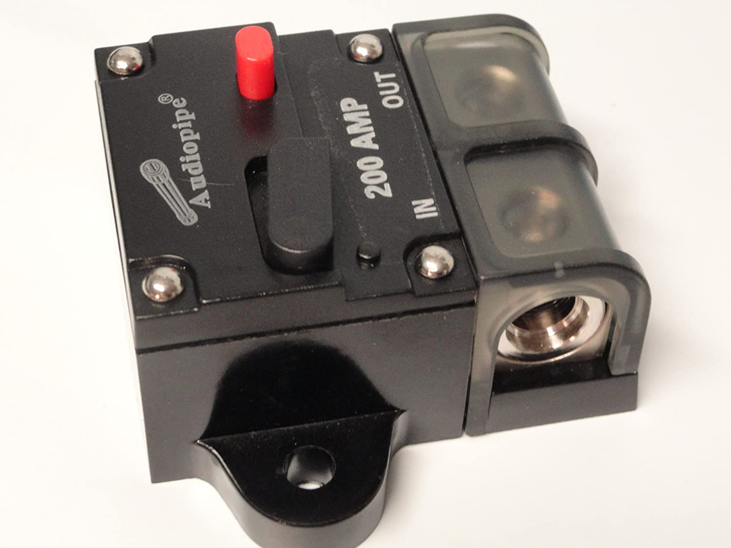 4 Or 8 Gauge Awg 12v 200a 200 Amp A Manual Reset Circuit Breaker Types Video Different Of Breakers Ehow 12 Volt Home Audio Theater