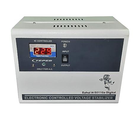 Rahul H 50110a Digital 5 Kva/16 Ampere In Put 100 280 Volt 5 Booster Automatic Digital Copper Voltage Stabilizer
