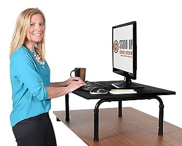 Amazoncom Stand Up Desk Store Standing Desktop Desk 32Inch