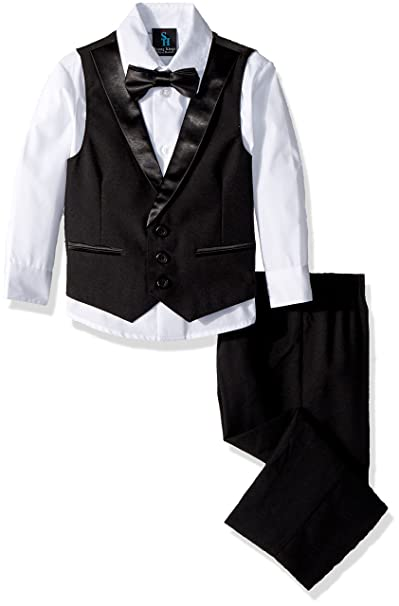 1940s Children's Clothing: Girls, Boys, Baby, Toddler Steve Harvey Boys Four Piece Vest Set $60.00 AT vintagedancer.com