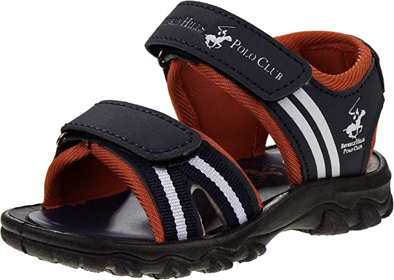 Beverly Hills Polo Club Boys Double Strap Sandals with Rugged Sole