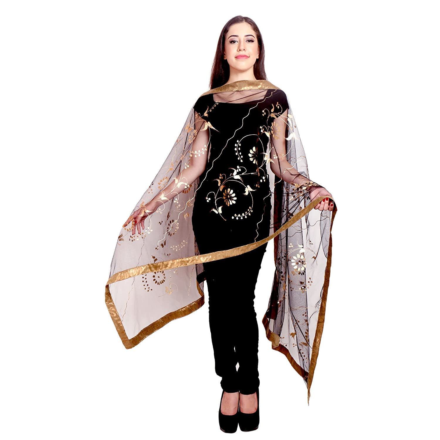 Long Indian Traditional Stole-Scarves Long -Shawl-dupatta-chunni-Scarf-Wrap RADANYA