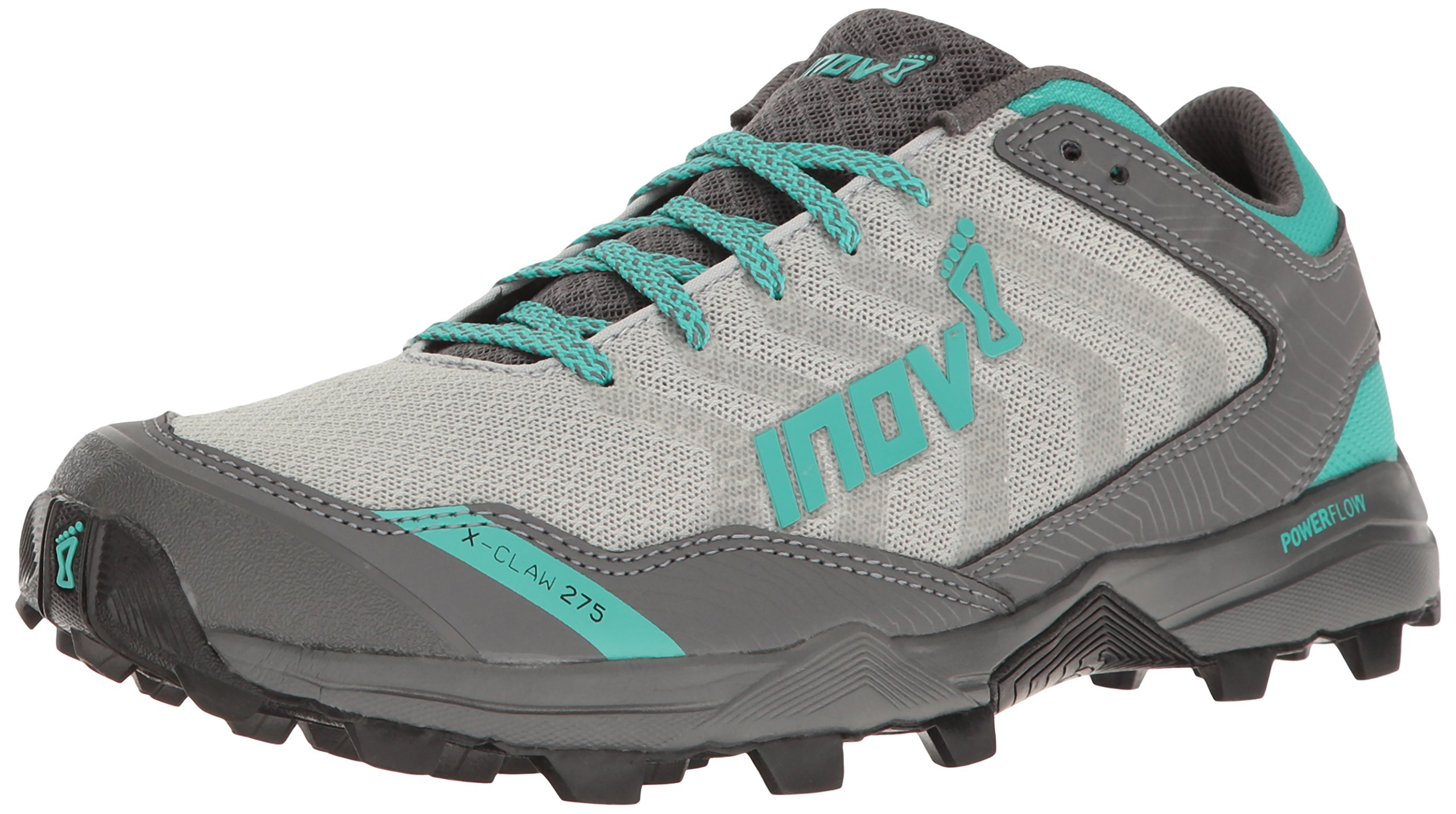 Inov-8 Women's X-Claw 275 Chill Trail Runner, Silver/Teal/Grey, 7 E US