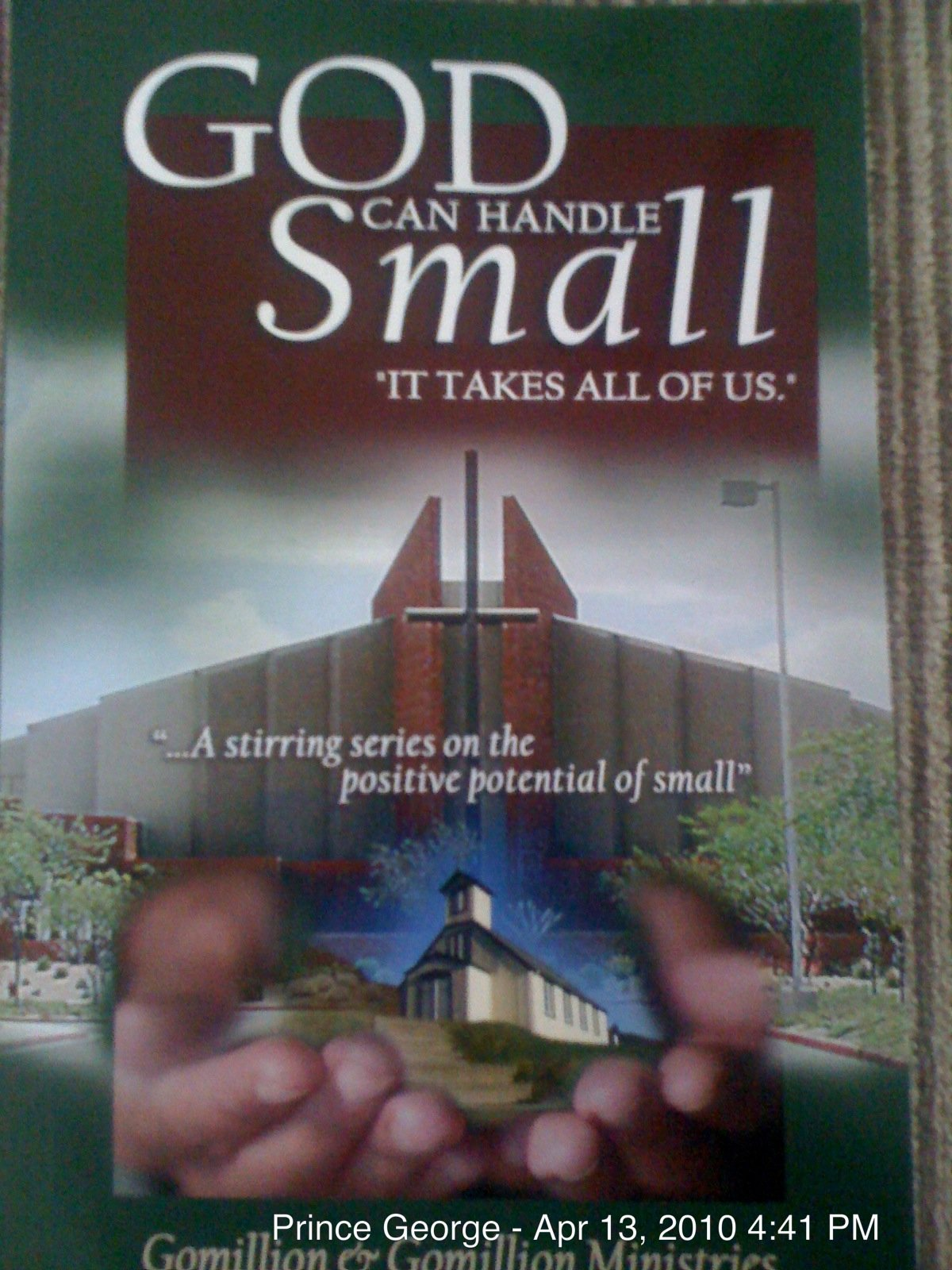 God Can Handle Small - It Takes Us All! PDF