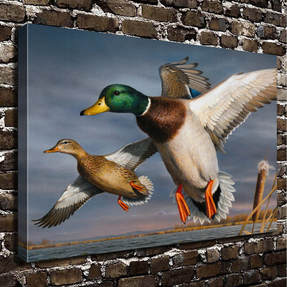 COLORSFORU Wall Art Painting Duck Prints On Canvas The Picture Landscape Pictures Oil for Home Modern Decoration Print Decor for Living Room