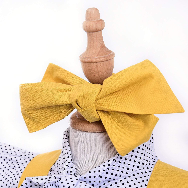 KiKibaby Baby Girl 3pcs Outfits Polka Dot Ruffles Sleeve Bowknot Shirt Top+Suspender Braces Skirt Overalls with Headband