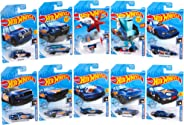 Hot Wheels Race Team 10-Pack Diecast Mini Collection [Amazon Exclusive]