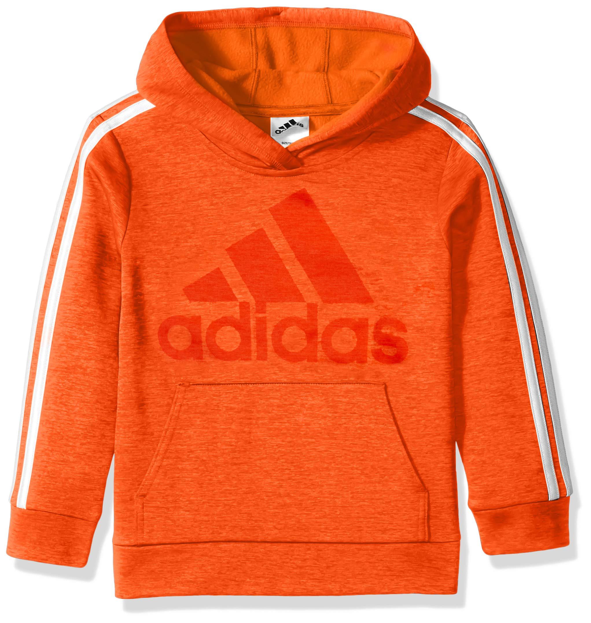 adidas Big Boys' Athletic Pullover Hoodie, Bold Orange Adi 1, M(10/12)