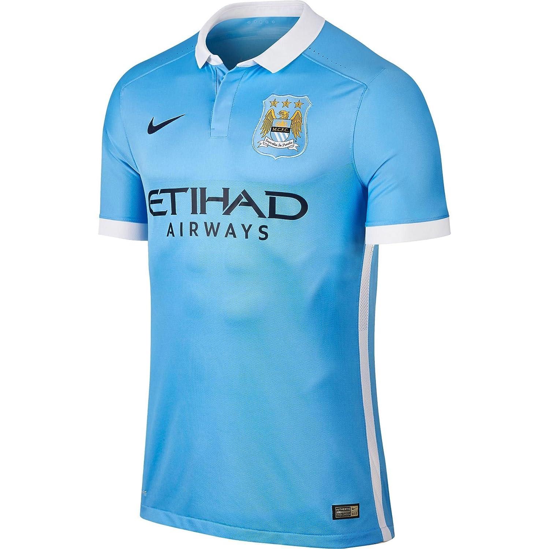 2015-2016 Man City Authentic Home Nike Shirt