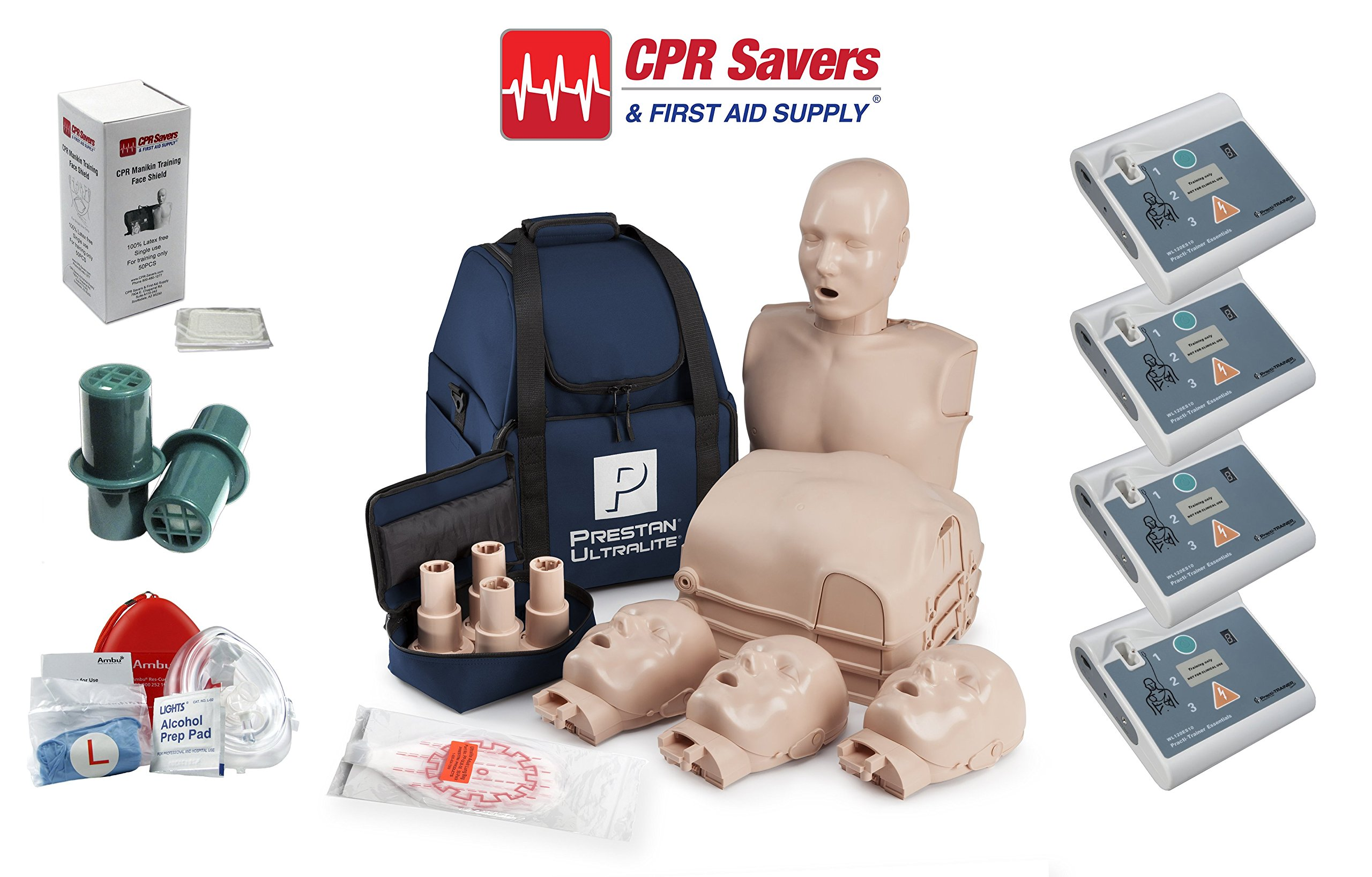 Beginner Instructor Package with 4 AED Trainers