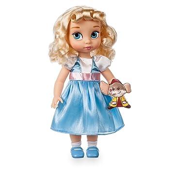 Disney Muñeca de La Cenicienta 39cm con un peluche acolchado de raso de Jack - Colección