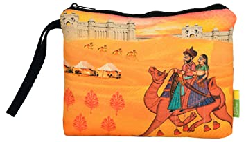 7626cec69a17 Eco Corner - Indian Art Camel - Pouch - Big - 100% Cotton Washable ...