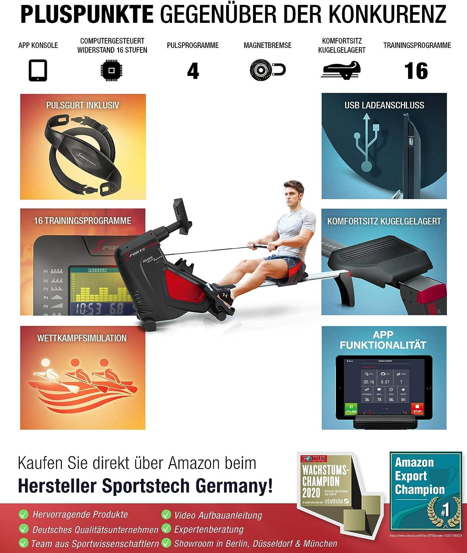 Sportstech RSX500 Rudergerät 1-2