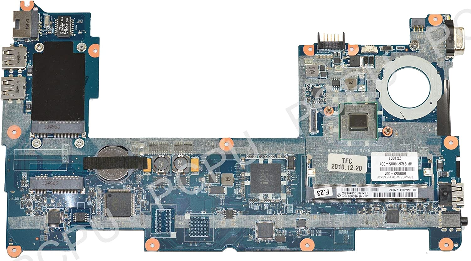 608952-001 HP MINI 210 Netbook Motherboard w/ N455 Intel Atom CPU