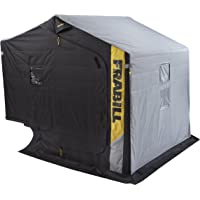 Frabill Excursion Ice Shelter with Side Door and Bench Seat, Black