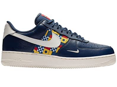 buy online 8484c 62943 Amazon.com   NIKE Men s Air Force 1 LV8 Midnight Navy Sail Gym  Red University Gold Leather Casual Shoes 10 D(M) US   Fashion Sneakers