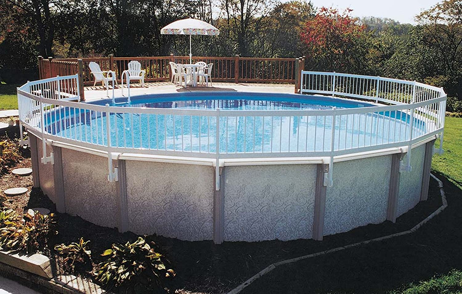 Amazon.com : GLI Above Ground Pool Fence Base Kit (8 Section) : Swimming  Pool Safety Products : Garden U0026 Outdoor
