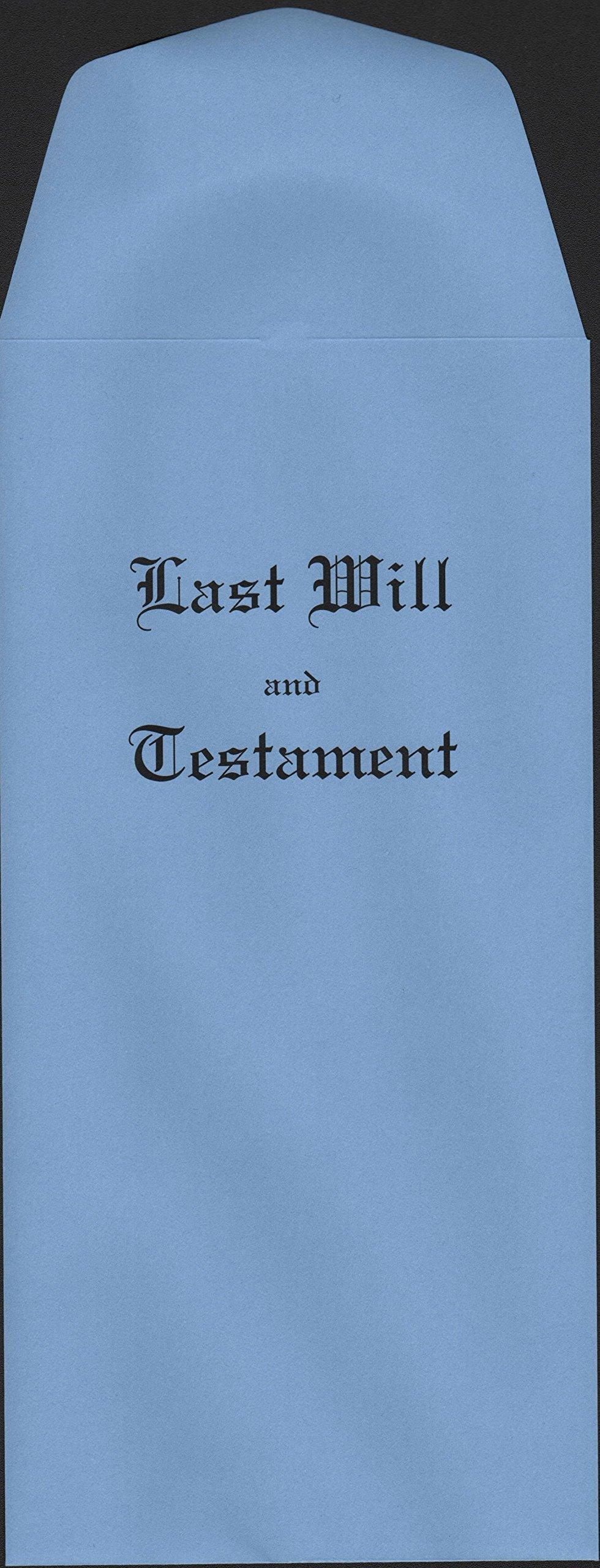Blue Last Will & Testament Envelope