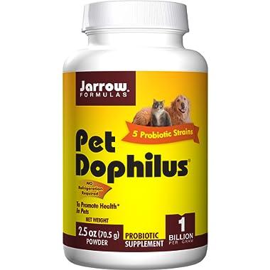 Jarrow Formulas Pet Dophilus Powder, Probiotic for Pets Intestinal Health, 70.5g