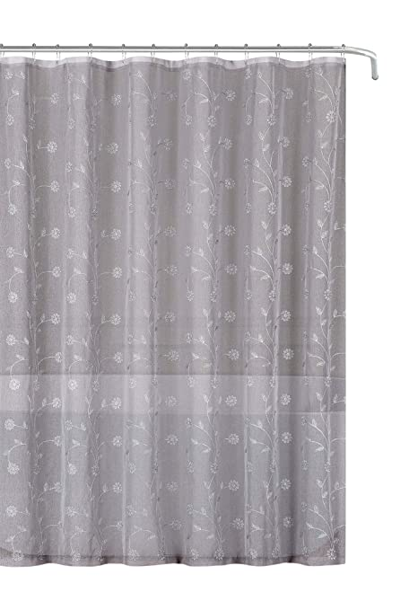 Image Unavailable Not Available For Color Emily Decorative Sheer Fabric Shower Curtain
