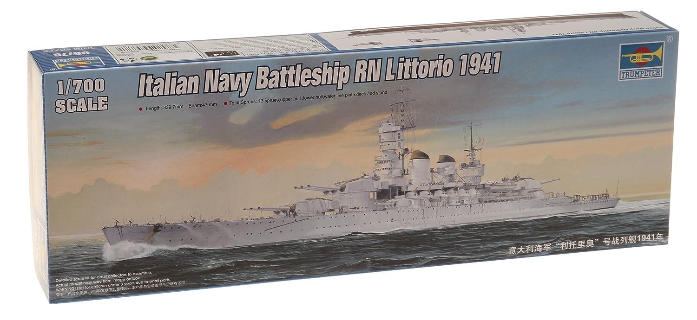Wwii italy navy battleship roma 1943 plastic model images list - Amazon Com Trumpeter 1 700 Rn Littorio Italian Navy Battleship 1941 Model Kit Toys Games