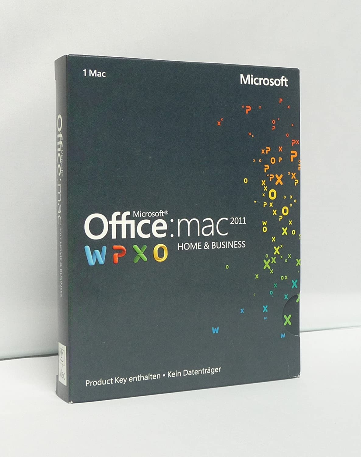 Microsoft Office Mac Home and Business 2011 - 1MAC (Product Key Card ...