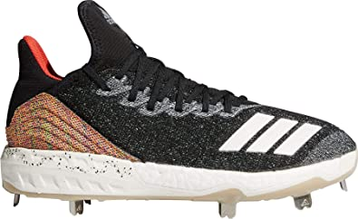 a60b61b8d9e adidas Mens Adizero Afterburner V Fusion Metal Cleats Black White 8