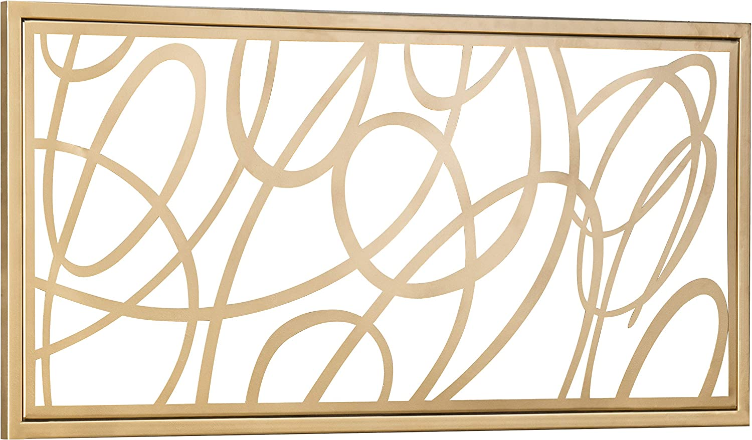 MyGift Contemporary Gold Metal Abstract Wall Art Accent Home Decor, 44 x 20 Inch
