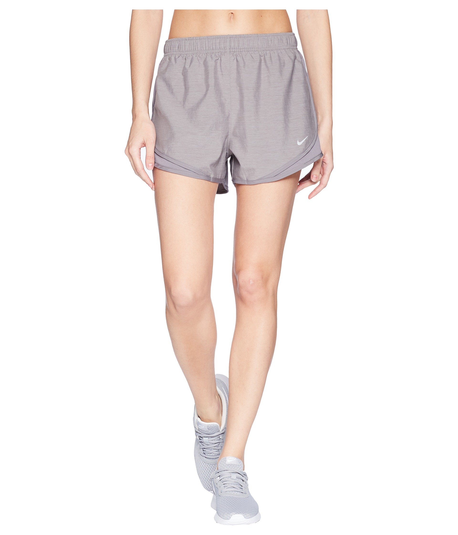NIKE Women's Tempo Running Shorts (Gunsmoke/Gunsmoke/Gunsmoke/Wolf Grey, Medium 3) by Nike