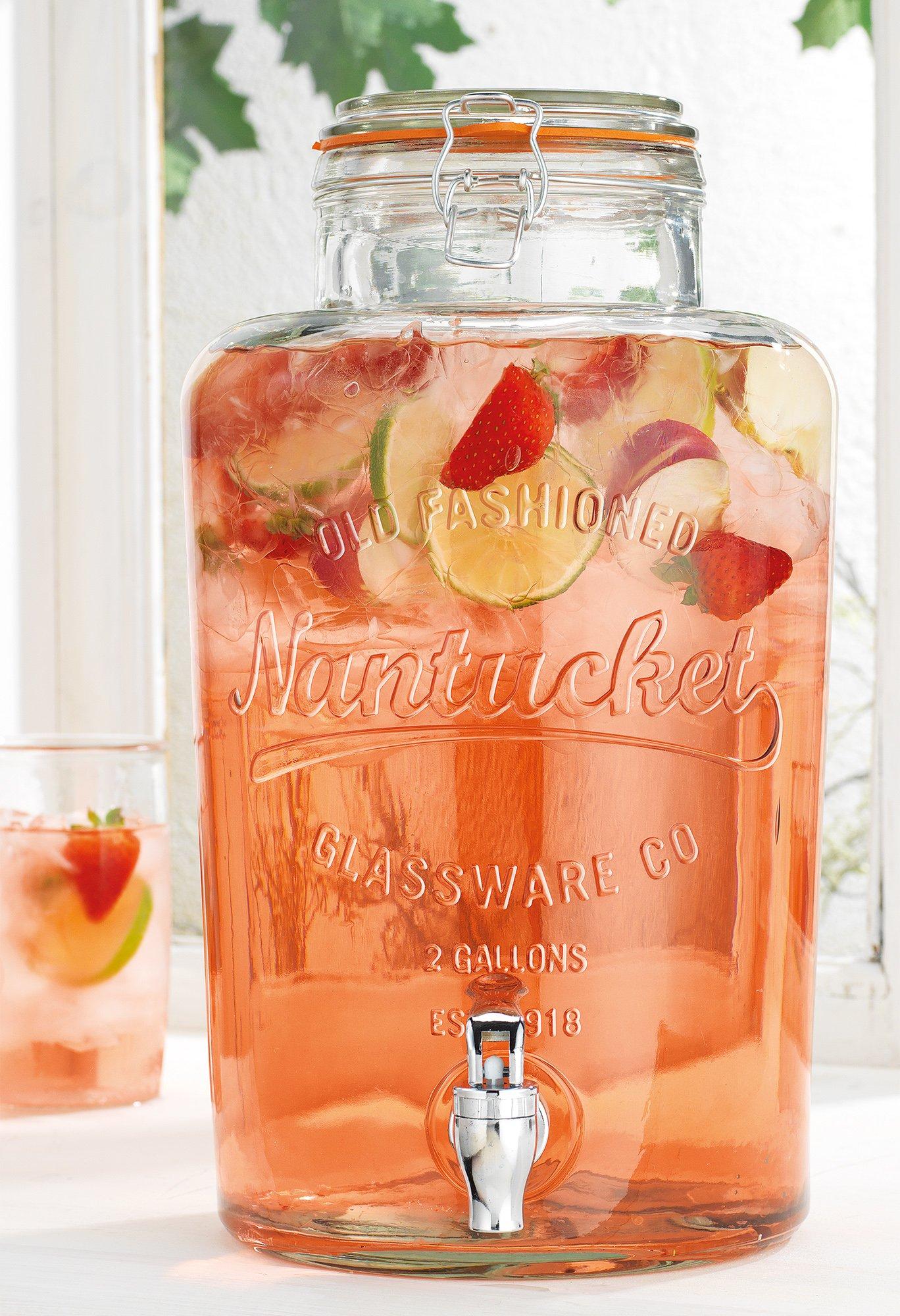 Home Essentials 2 Gallon Nantucket Drink Dispenser