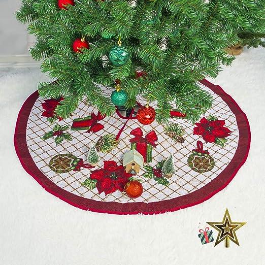 Odot Falda del árbol de Navidad, 100cm Suave Alfombra de Árbol ...