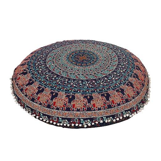 ganesham handicrafts- Psychedelic Mandala tapiz, redondo ...
