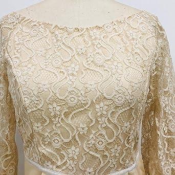 Kolylong® elegancka sukienka damska, seksowne kwiaty, koronka, długie rękawy z siateczki, sukienka koktajlowa, na imprezę, dla druhny: Odzież