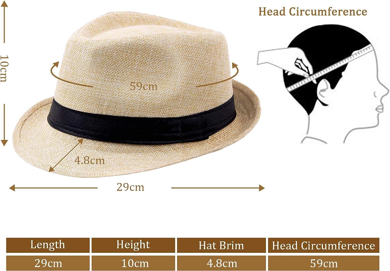 aliangliang Cappelli Fedora Cappello Militare Regolabile da Uomo con Cappello da Marinaio Classico da Uomo