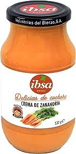Ibsa - Crema de Zanahoria, 12 Uds x 530 gr - Total: 6360