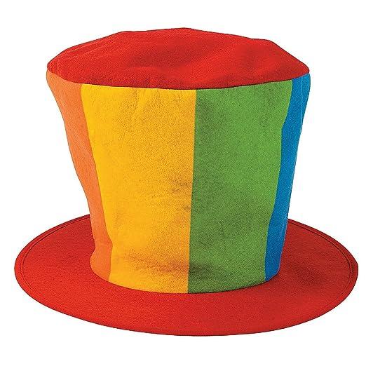 25a870ca283 Amazon.com  Felt Oversized Clown Top Hat  Clothing