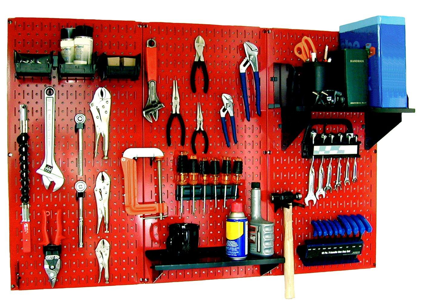 Wall Control 30-WRK-400RB Standard Workbench Metal Pegboard Tool Organizer