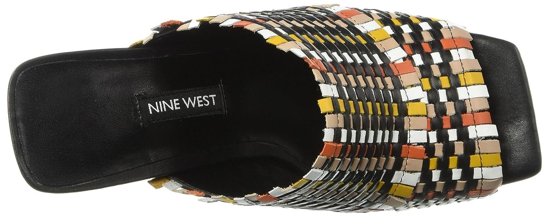 Nine West Women's Lucili Leather Slide Sandal B074NKMRPP 11 M US|Black/Multi Leather