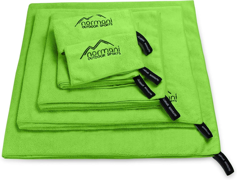 Normani Mikrofaser Handtücher 6 Größen / 5 Farben, leicht und Ultra saugfähig, Handtuch Sporthandtuch, Reisehandtuch, Mikrofaser-Badetuch, XXL Strandhandtuch