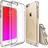 iPhone 6s Plus Case, Ringke [Fusion] Crystal Clear PC Back TPU Bumper w/ Screen Protector [Drop Protection/Shock Absorption Technology][Attached Dust Cap] For Apple iPhone 6s Plus / 6 Plus - Crystal View